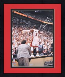 "Framed Dwyane Wade Miami Heat 2012 Finals Autographed 16"" x 20"" On Table Photograph"