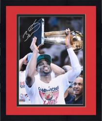 "Framed Dwyane Wade Miami Heat 2012 Finals Trophy Over Head Autographed 16"" x 20"" Photograph"