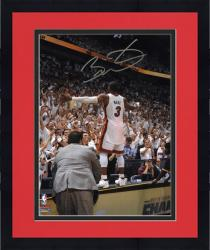 Framed Dwyane Wade Miami Heat 2012 NBA Finals Champs Autographed 8'' x 10'' Crowd Photo