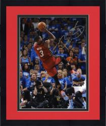 Framed Dwyane Wade Miami Heat 2012 NBA Finals Champs Autographed 8'' x 10'' Fadeaway Photo