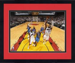 "Framed Dwyane Wade Miami Heat 2012 Finals Champs Autographed 8"" x 10"" Off Glass Layup Photograph"