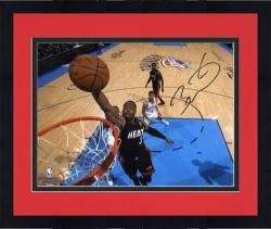 "Framed Dwyane Wade Miami Heat 2012 Finals Champs Autographed 8"" x 10"" Dunk Photograph"