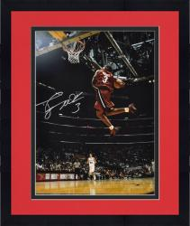 "Framed Dwyane Wade Miami Heat Autographed 16"" x 20"" vs San Antonio Spurs Photograph"