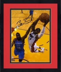 Framed Dwyane Wade Miami Heat vs. Oklahoma City Thunder 2012 NBA Finals Autographed 8'' x 10'' Photograph