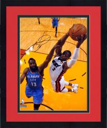 "Framed Dwynane Wade Miami Heat 2012 Finals Autographed 16"" x 20"" Dunk over James Harden Photograph"