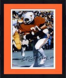 "Framed Earl Campbell Texas Longhorns Autographed 8"" x 10"" vs. Notre Dame Photograph with Hook Em Inscription"