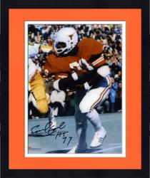 "Framed Earl Campbell Texas Longhorns Autographed 8"" x 10"" vs. Notre Dame Photograph with HT 77 Inscription"
