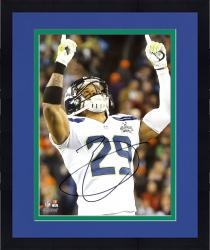 "Framed Earl Thomas Seattle Seahawks Super Bowl XLVIII Champions Autographed 8"" x 10"" Fingers Up Photograph"