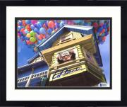 """Framed Ed Asner Autographed 8"""" x 10"""" Up Carl Floating Away With House Photograph - Beckett COA"""