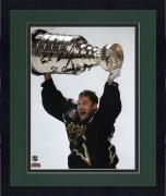 "Framed Ed Belfour Dallas Stars 1999 Stanley Cup Champions Autographed 8"" x 10"" Trophy Photograph with SC Champs 99 Inscription"
