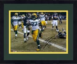 "Framed Eddie Lacy Green Bay Packers Autographed 16"" x 20"" Horizontal TD vs. Chicago Bears Photograph"