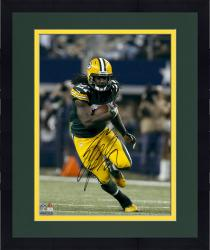 Framed Eddie Lacy Green Bay Packers Autographed 16'' x 20'' Vertical Green Uniform Running Photograph