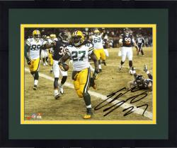 Framed Eddie Lacy Green Bay Packers Autographed 8'' x 10'' Horizontal TD vs. Chicago Bears Photograph