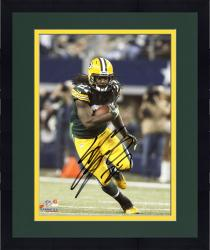 Framed Eddie Lacy Green Bay Packers Autographed 8'' x 10'' Vertical Green Uniform Running Photograph