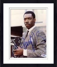 """Framed Eddie Murphy Autographed 8""""x 10"""" 48 Hrs. Holding Gun Photograph - PSA/DNA COA"""