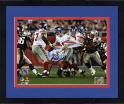 "Framed Eli Manning New York Giants Super Bowl XLII Autographed 8"" x 10"" Photo"