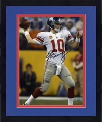 "Framed Eli Manning New York Giants Super Bowl XLVI Autographed 8"" x 10"" Photo"