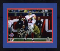 "Framed Eli Manning New York Giants Super Bowl XLVI Roll Out Autographed 8"" x 10"" Photo"