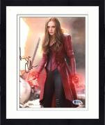 "Framed Elizabeth Olsen Autographed 8"" x 10"" Avengers: On Battlefield - Beckett COA"