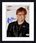 "Framed Elton John Autographed 8""x 10"" Wearing Red Glasses Photograph -  PSA/DNA COA"