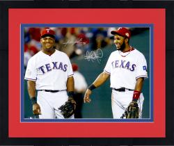 "Framed Elvis Andrus & Adrian Beltre Texas Rangers Dual Autographed 16"" x 20"" Photograph"