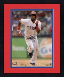 """Framed Elvis Andrus Texas Rangers Autographed 8"""" x 10"""" Running Face On Photograph"""