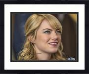 "Framed Emma Stone Autographed 8"" x 10"" Blonde Close Up Photograph - Beckett COA"