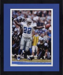 Framed Emmitt Smith Dallas Cowboys Autographed 16'' x 20'' Arms Out Photograph