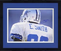 Framed Emmitt Smith Dallas Cowboys Autographed 16'' x 20'' Back Shot Photograph