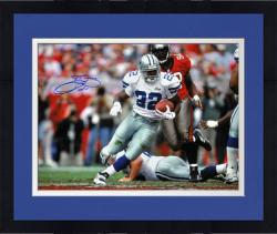 "Framed Emmitt Smith Dallas Cowboys Autographed 16"" x 20"" vs Tampa Bay Bucaneers Photograph"