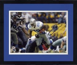 Framed Emmitt Smith Dallas Cowboys Record Breaker Run Autographed 8'' x 10'' Photograph