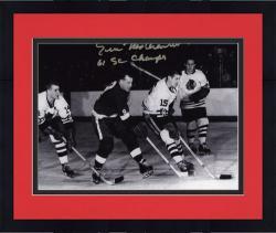 "Framed Eric Nesterenko Chicago Blackhawks Autographed 8"" x 10"" Photograph with 61 SC Champs Inscription"