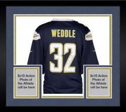 Framed Eric Weddle San Diego Chargers Autographed Dark Blue Game Jersey
