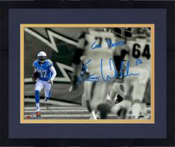 "Framed Eric Weddle San Diego Chargers Autographed ""Go Bolts"" 11"" x 14"" Photograph"