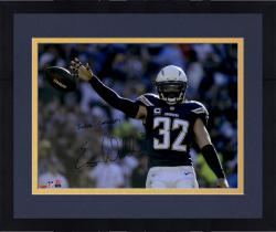 "Framed Eric Weddle San Diego Chargers Autographed ""Super Chargers"" Blue Jersey 16"" x 20"" Horizontal Photograph"