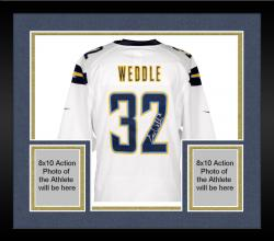 Framed Eric Weddle San Diego Chargers Autographed White Game Jersey
