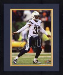 "Framed Eric Weddle San Diego Chargers Autographed White Jersey 08"" x 10"" Vertical Photograph"