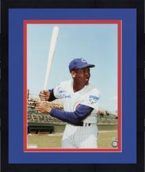 "Framed Ernie Banks Chicago Cubs Autographed 16"" x 20"" Bat Pose Photograph"