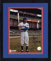 "Framed Ernie Banks Chicago Cubs Autographed 8"" x 10"" Bat Pose Photograph"