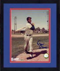 Framed Ernie Banks Chicago Cubs Autographed 8'' x 10'' Pose Photograph
