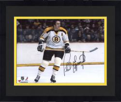 Framed Phil Esposito Boston Bruins Autographed 8'' x 10'' White Horizontal Photograph