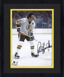 Framed Phil Esposito Boston Bruins Autographed 8'' x 10'' White Vertical Photograph