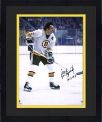 "Framed Phil Esposito Boston Bruins Autographed 16"" x 20"" White Vertical Photograph with HOF 1984 Inscription"