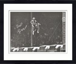 Framed Evel Knievel Autographed 16'' x 20'' Wembley Stadium Photograph - Mounted Memories