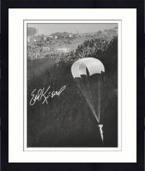 Framed Evel Knievel Autographed 16'' x 20'' Snake River Photograph
