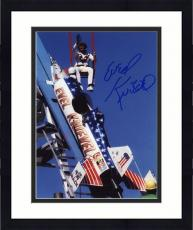 "Framed Evel Knievel Autographed 8"" x 10"" Sky Rocket Photograph"