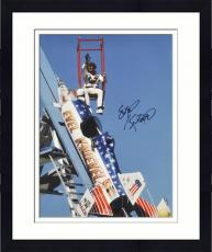 Framed Evel Knievel Autographed 16'' x 20'' Sky Rocket Photograph