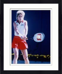 Framed Chris Evert Autographed 8'' x 10'' Ball On Racquet Photograph