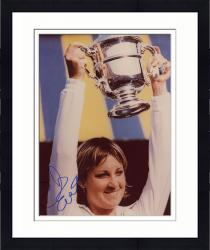 Framed Chris Evert Autographed 8'' x 10'' Holding Up Cup Photograph