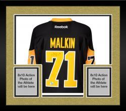 Framed Evgeni Malkin Pittsburgh Penguins Autographed Black Reebok Premier Jersey